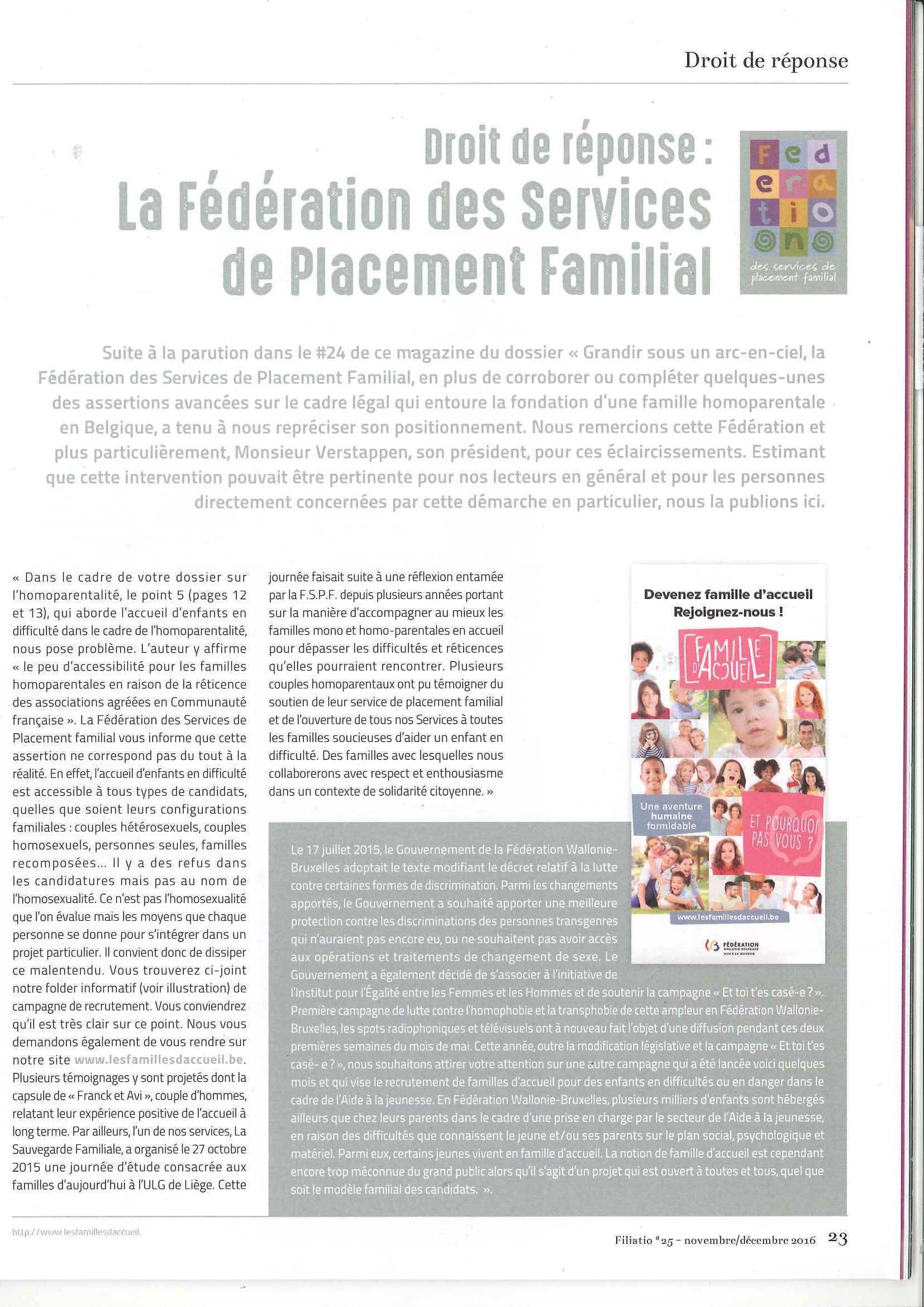 Article paru dans Filiatio #25 sur l'homoparentalité